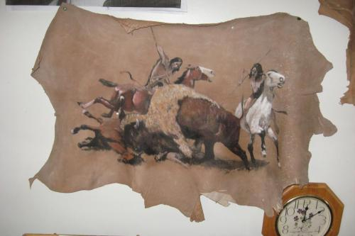 From Fredrick Remington painted on deerskin by Don Matteson